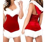 Natale vestito bellezza con cappuccio da donna