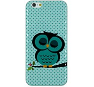 A Sleeping Owl on The Tree Pattern TPU Soft Back Cover Case for iPhone 6/6S