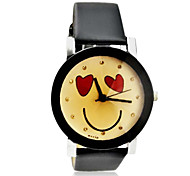 Women's Lovely Smile Pattern PU Band Quartz Wrist Watch (Assorted Colors)