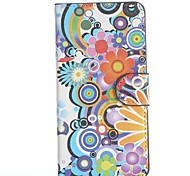 Flowers Pattern PU Leather Full Body Cover with Stand for HTC Desire 610