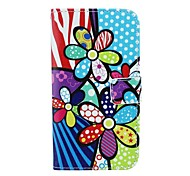 Color Flower Pattern PU Leather Full Body Case with Card Slot and Stand for Motorola X+1