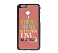 Strong People Design Aluminum Hard Case for iPhone 6 Plus