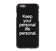 Fashion Design Aluminum Hard Case for iPhone 6