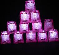 LED Light Touch Shiny Pink Lce Cubes (12PCS)