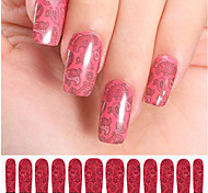 12PCS Pink Watermark Nail Art Stickers C3-013