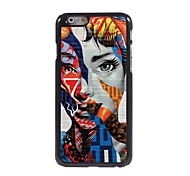 Special Design Woman Pattern Aluminum Hard Case for iPhone 6
