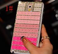 strass coloridos estojo rígido padrão de plástico diy para Samsung Galaxy Note 3