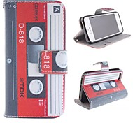 Tape Design Restoring Ancient Ways PU Full Body Case with Stand with Card Slot for iPhone 5/5S