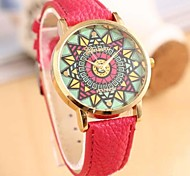 Women's Fashion Ethnic Style Leather Guartz Watch(Assorted Colors)
