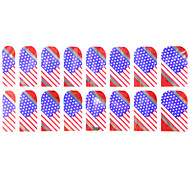 Full Cover Flag Of USA Style Nail Stickers