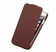 Fashion Genuine + PU Leather Mobile Phone Ultra Slim FLip Cover Protective Shell for iPhone 6