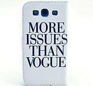 plus question de modèle de mode étui en cuir PU avec fente pour carte de titulaire de l'argent pour les i9300 Samsung Galaxy S
