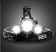 Headlamps / Bike Lights / Front Bike Light LED Cree T6 Cycling Rechargeable 18650 3000lumens Lumens BatteryCamping/Hiking/Caving /
