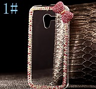 For Motorola Case Case Cover Rhinestone Transparent Back Cover Case Solid Color Hard PC for Motorola