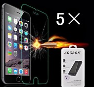 Damage Protection Tempered Glass Screen Protector with Cleaning Cloth for iPhone 6S/6 (5 PCS)