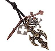 старинные милые крест Pandent скрыть веревку мужские ожерелья (1шт)