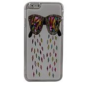 de dibujos animados gafas tapa dura de plástico para el iphone 6