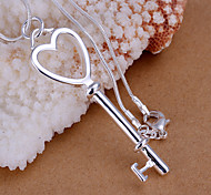 Charming Silver Key and Heart  Shape Women's Pendents