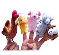 Пальцевая кукла Цыпленок Утка Собаки Поросенок Мультяшная тематика Милый Необычные игрушки Для мальчиков Для девочек Текстиль