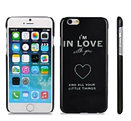 I am in Love Quote Pattern Hard Plastic Back Cover for iPhone 6