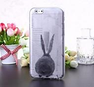 Cartoon Rabbit Pattern Transparent TPU Soft Case for iPhone 6