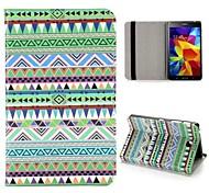 Häuschen mit Stammes-Stil-Muster Flip ausklappbarer Standfuß PU-Leder Etui für Samsung Galaxy Tab Tab 7 Zoll 4 T230 T231 T235