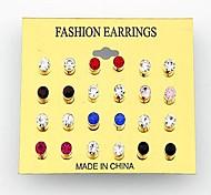 orecchini 12pcs coreano moda diamante (colore casuale)