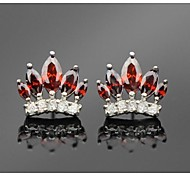 The Crown Shaped Cubic Zirconia Stud Earrings