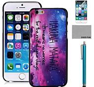 Коко fun® точка ночь образец шт жесткий чехол задняя крышка с экраном Protecter, стоять и стилус для iPhone 6 6G 4.7