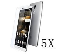 [5-pack] professionnel de haute transparence cristal lcd protecteur d'écran avec chiffon de nettoyage pour Huawei compagnon 7