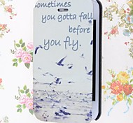 Seagulls Pattern PU Leather Full Body Case with Stand and Card Slot for iPhone 4/4S