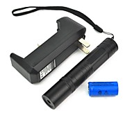 LT-850 Adjustable Focus Burning Lighter Cutting Green Laser Pointer Kits(4mw,532nm,1xCR16340)