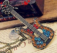 Women's Vintage Guitar Sweater Chain