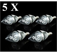 4W E14 LED Candle Lights C35 3 SMD 250-300 lm Warm White / Cool White AC 110-130 V