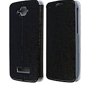 High Quality PU Leather Flip Case with Holder Stand for Alcatel One Touch Pop C7 (Assorted Colors)