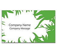 Business Card 200pcs 2 Sides Printed Green And White Pattern