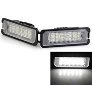 2 White 18 LED 3528 SMD Number License Plate Lights Lamp Bulb for VW Lupo Polo