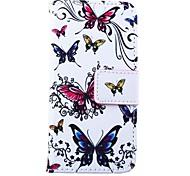 Schmetterlinge Muster PU-Leder Ganzkörper-Kasten für iphone 5/5 s