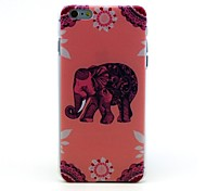 Pink Elephant Pattern Hard Case for iPhone 6 Plus