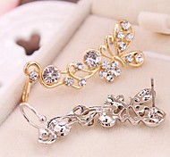 Ear CuffsJewelry Golden / Silver Alloy / Rhinestone Daily