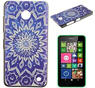 Blue Sun Flowers Pattern PC Hard Case for Nokia Lumia N630