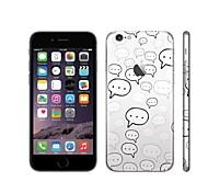 skinat 3м мягкая кожа новая наклейка назад отличительные знаки наклейки разговор с пузырь мобильный телефон наклейки для Iphone 6
