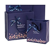 Lureme Romance  Bowknot Pattern Dot Gift Bag(Random Color)(1 Pc)