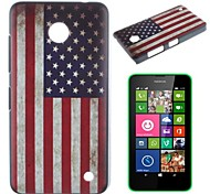 Stars and Stripes Pattern PC Hard Case for Nokia Lumia N630