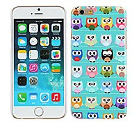 Blue Cute Owls Glossy Hard Plastic Case Cover for iPhone 6