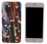 Colorful Heart-Shaped Design PC Hard Case for iPhone 6
