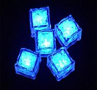 LED-Licht Touch glänzenden blauen Eiswürfeln (12pcs)