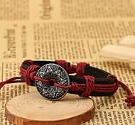 Z&X®  Vintage Punk Fashion Alloy Decorations Handmade Leather Bracelets