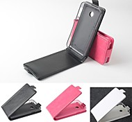 Hot Sale 100% PU Leather Flip Leather Up and Down Case for Huawei Y330(Assorted Color)