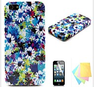 Floral Pattern TPU Soft Back Cover for iPhone4/4S
